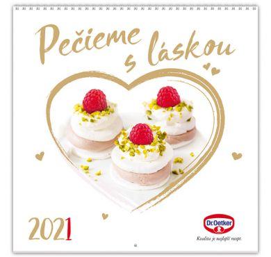 Nástenný kalendár Pečieme s láskou 2021