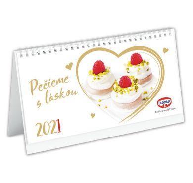 Stolový kalendár Pečieme s láskou 2021